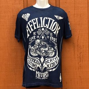 Affliction Death Riders Burn Out Graphic T-Shirt L